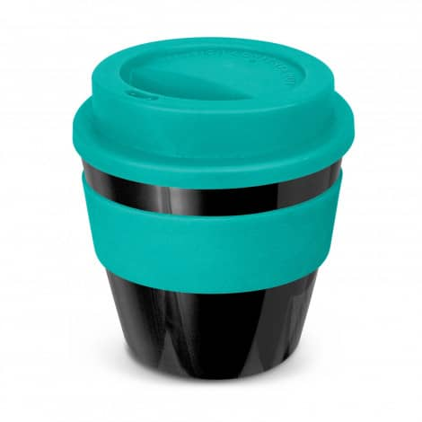 Express Cup Classic Reusable Coffee Cup Promotional Logo 115792 Black Teal