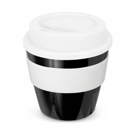 Express Cup Classic Reusable Coffee Cup Promotional Logo 115792 Black White Band