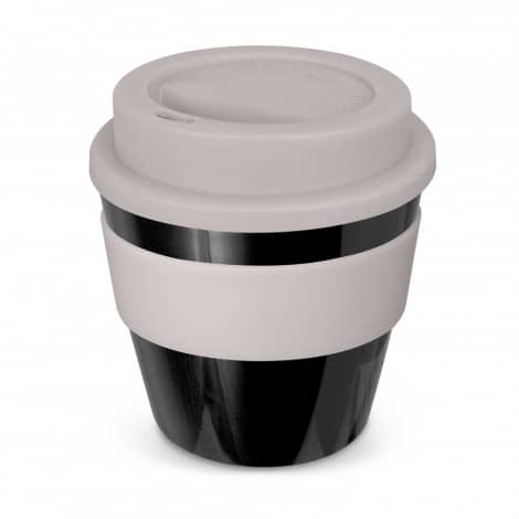 Express Cup Classic Reusable Coffee Cup Promotional Logo 115792 Black White