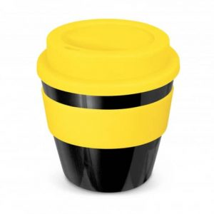 Express Cup Classic Reusable Coffee Cup Promotional Logo 115792 Black Yellow