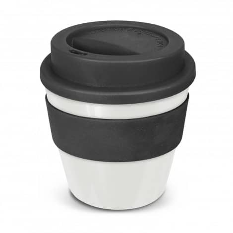 Express Cup Classic Reusable Coffee Cup Promotional Logo 115792 White Black