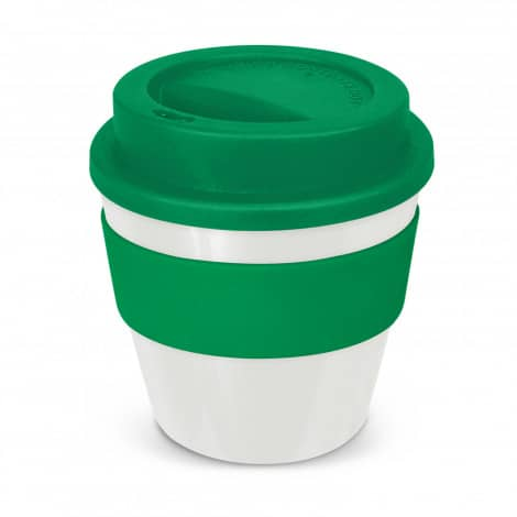 Express Cup Classic Reusable Coffee Cup Promotional Logo 115792 White Green