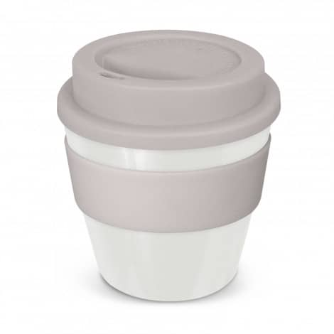 Express Cup Classic Reusable Coffee Cup Promotional Logo 115792 White Grey