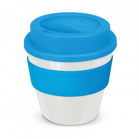 Express Cup Classic Reusable Coffee Cup Promotional Logo 115792 White Light Blue