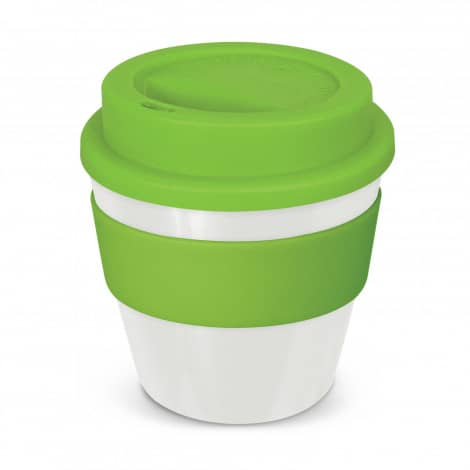 Express Cup Classic Reusable Coffee Cup Promotional Logo 115792 White Lime Green