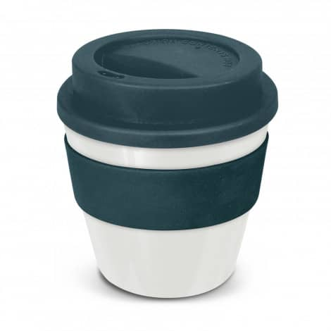 Express Cup Classic Reusable Coffee Cup Promotional Logo 115792 White Navy