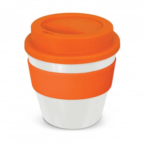 Express Cup Classic Reusable Coffee Cup Promotional Logo 115792 White Orange