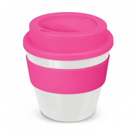 Express Cup Classic Reusable Coffee Cup Promotional Logo 115792 White Pink