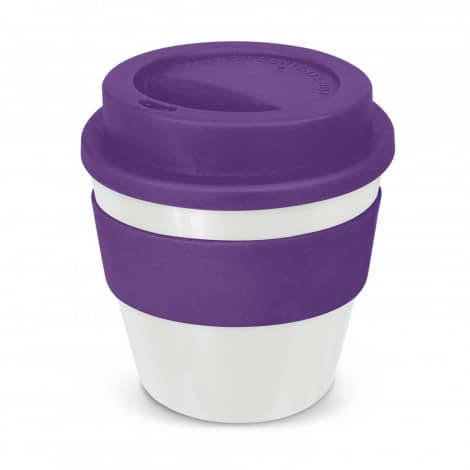 Express Cup Classic Reusable Coffee Cup Promotional Logo 115792 White Purple