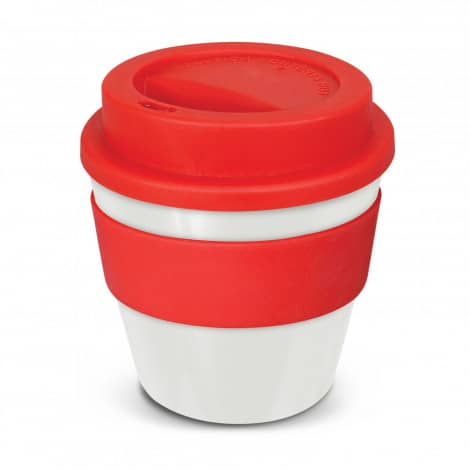 Express Cup Classic Reusable Coffee Cup Promotional Logo 115792 White Red