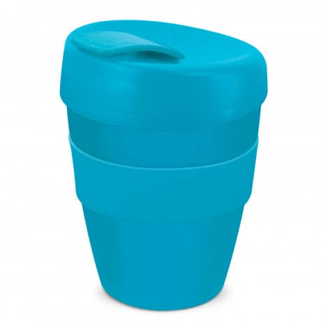 Express Cup Deluxe 350ml Logo Promotional Reusable Coffee Cup 108821 Light Blue