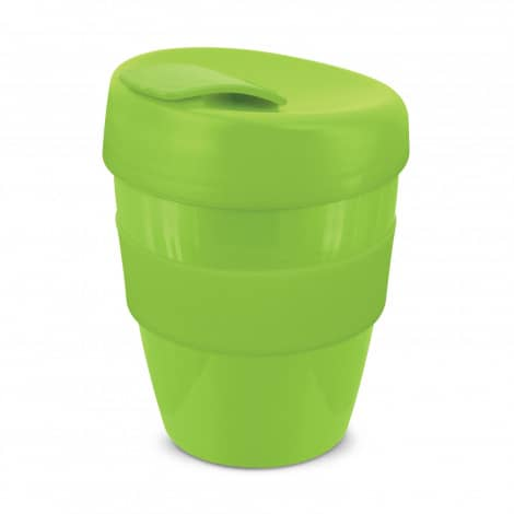 Express Cup Deluxe 350ml Logo Promotional Reusable Coffee Cup 108821 Lime Green