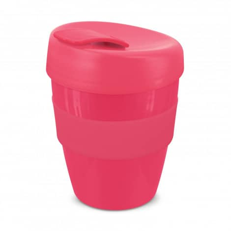 Express Cup Deluxe 350ml Logo Promotional Reusable Coffee Cup 108821 Pink