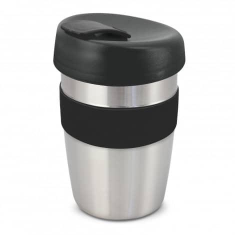 Express Cup Elite Silicone Logo Promotional Reusable Black 115395