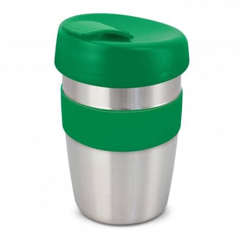 Express Cup Elite Silicone Logo Promotional Reusable Dark Green 115395