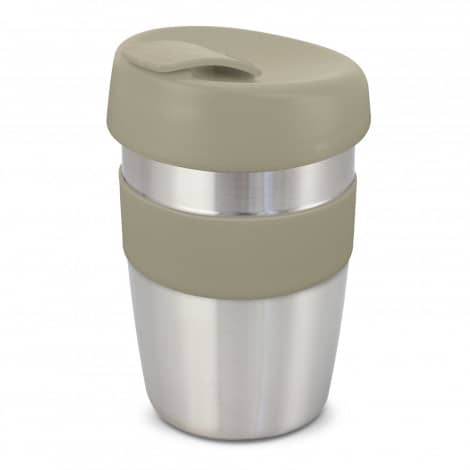 Express Cup Elite Silicone Logo Promotional Reusable Grey 115395
