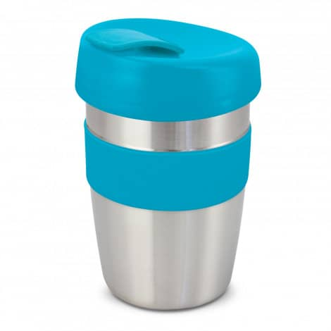 Express Cup Elite Silicone Logo Promotional Reusable Light Blue 115395
