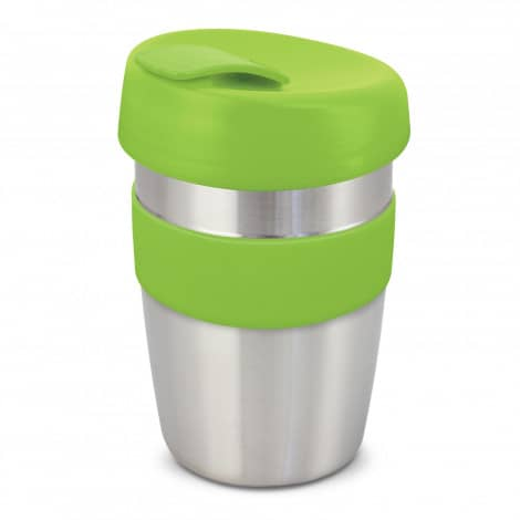 Express Cup Elite Silicone Logo Promotional Reusable Lime Green 115395