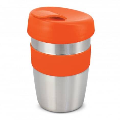 Express Cup Elite Silicone Logo Promotional Reusable Orange 115395