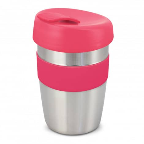 Express Cup Elite Silicone Logo Promotional Reusable Pink 115395