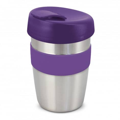 Express Cup Elite Silicone Logo Promotional Reusable Purple 115395