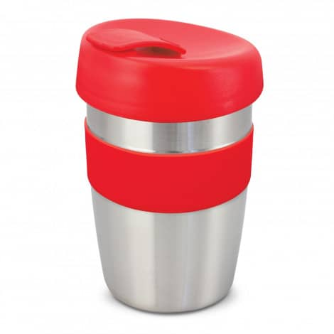 Express Cup Elite Silicone Logo Promotional Reusable Red 115395