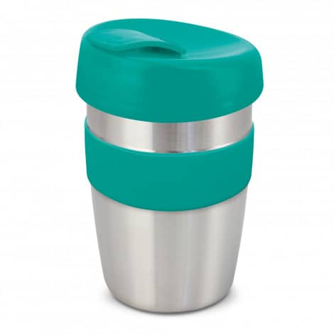 Express Cup Elite Silicone Logo Promotional Reusable Teal 115395