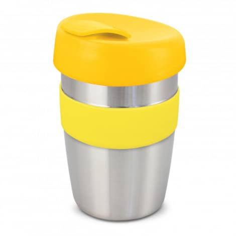 Express Cup Elite Silicone Logo Promotional Reusable Yellow 115395
