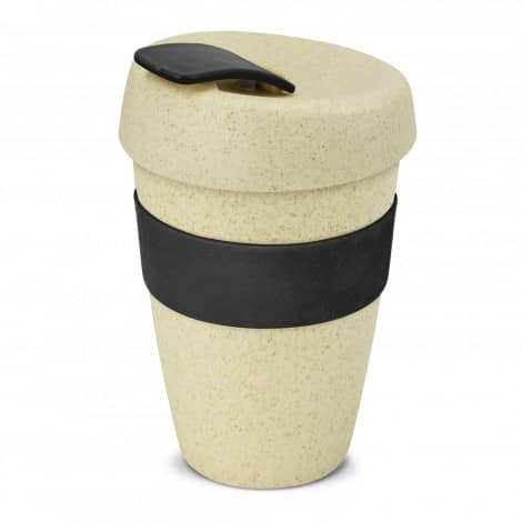 Express Cup Natura Double Wall Logo Promotional Reusable Coffee Cup 116348 Black