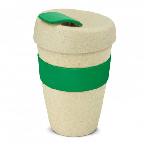 Express Cup Natura Double Wall Logo Promotional Reusable Coffee Cup 116348 Green