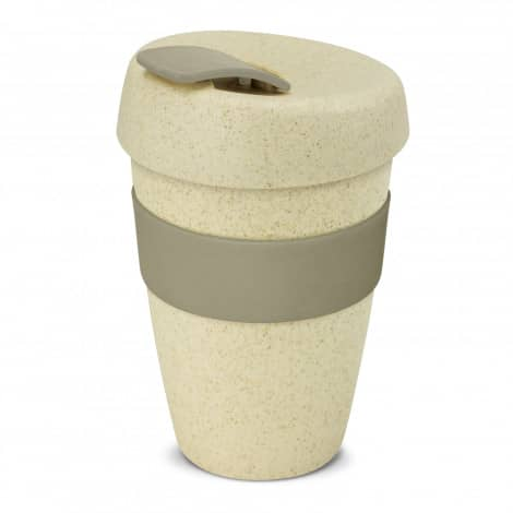 Express Cup Natura Double Wall Logo Promotional Reusable Coffee Cup 116348 Grey
