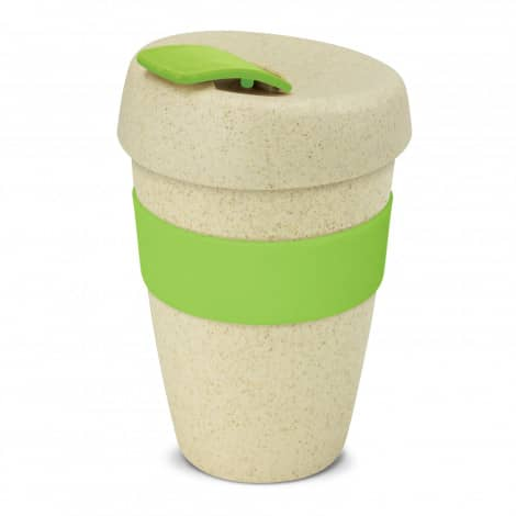 Express Cup Natura Double Wall Logo Promotional Reusable Coffee Cup 116348 Lime Green