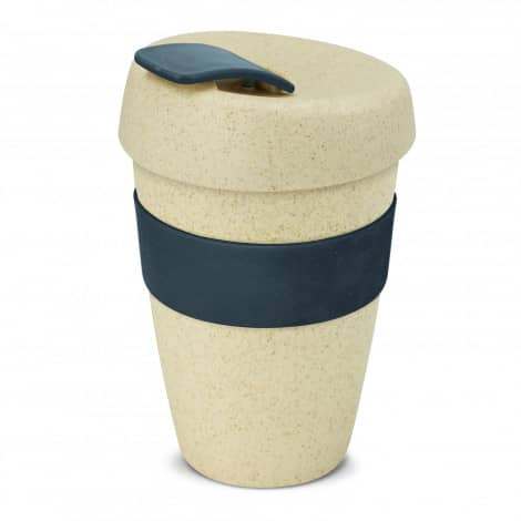 Express Cup Natura Double Wall Logo Promotional Reusable Coffee Cup 116348 Navy