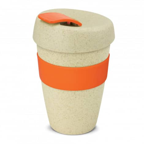 Express Cup Natura Double Wall Logo Promotional Reusable Coffee Cup 116348 Orange