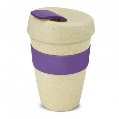 Express Cup Natura Double Wall Logo Promotional Reusable Coffee Cup 116348 Purple