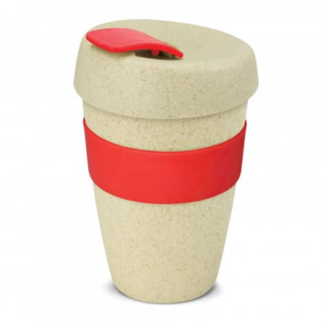 Express Cup Natura Double Wall Logo Promotional Reusable Coffee Cup 116348 Red