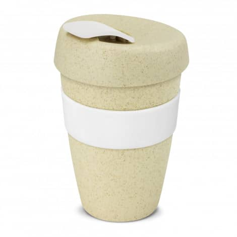 Express Cup Natura Double Wall Logo Promotional Reusable Coffee Cup 116348 White