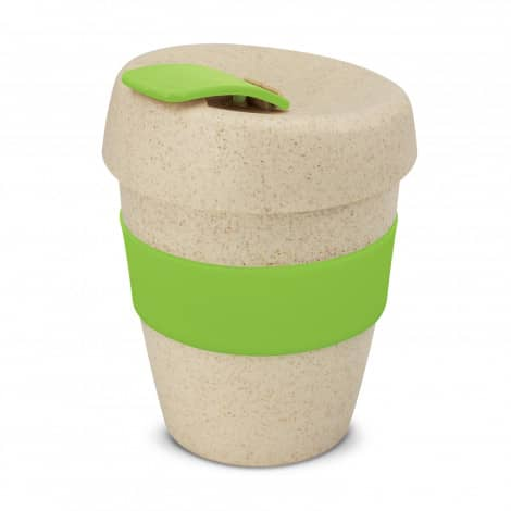 Express Cup Natura Logo Promotional Reusable Coffee Cup 115581 Lime Green