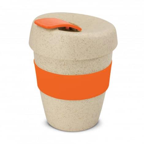 Express Cup Natura Logo Promotional Reusable Coffee Cup 115581 Orange