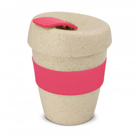 Express Cup Natura Logo Promotional Reusable Coffee Cup 115581 Pink