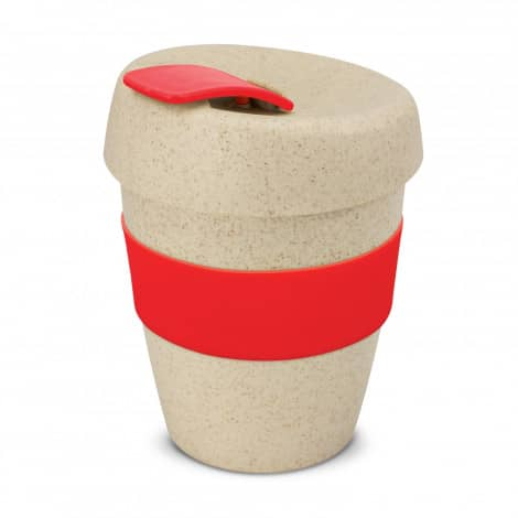 Express Cup Natura Logo Promotional Reusable Coffee Cup 115581 Red