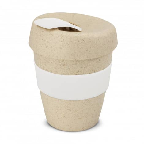 Express Cup Natura Logo Promotional Reusable Coffee Cup 115581 White