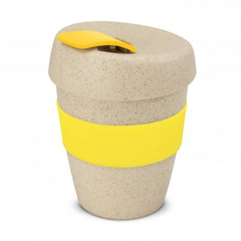 Express Cup Natura Logo Promotional Reusable Coffee Cup 115581 Yellow
