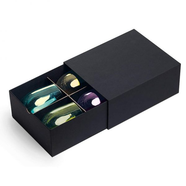Festa Wine Glass Set POFWGS Set of 4 in Black Gift Box