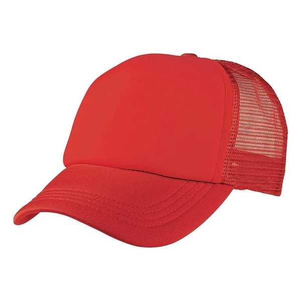 Foam Mesh Trucker Caps 4055 Red