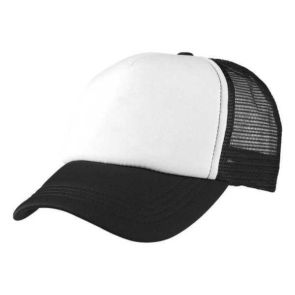 Foam Mesh Trucker Caps 4055 White Black