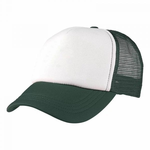 Foam Mesh Trucker Caps 4055 White Green