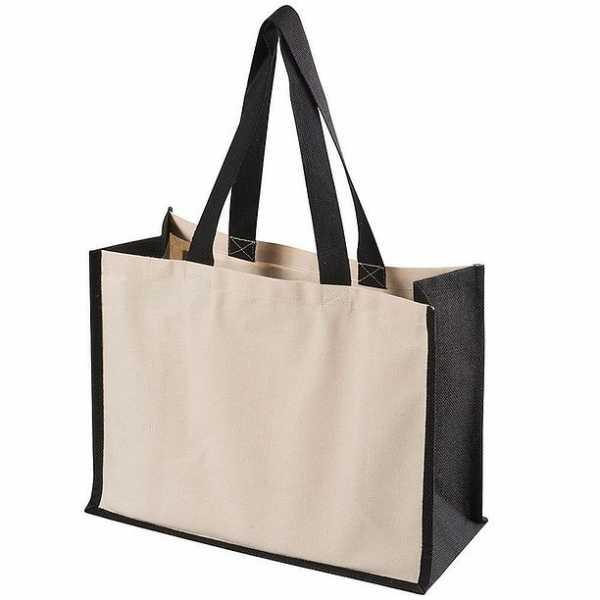 Functional Tote Bag 5049BK Cream Black