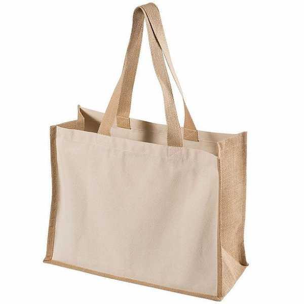 Functional Tote Bag 5049BK Cream Jute