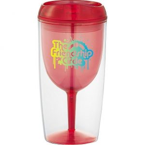 Game Day Wine Glass Cup 4063RD Red Branded